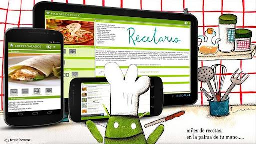 Imatge de l'aplicació Recetario disponible a Android