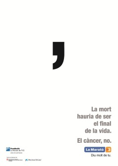 Cartell de La Marató de TV3 2012