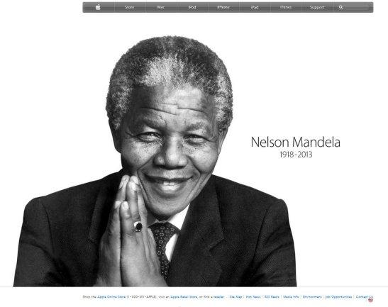 Captura de pantalla de la pàgina d'inici del web d'Apple.