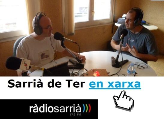 Amb en Guillem Alsina parlant de noves tecnologies. Foto d'arxiu. Ràdio Sarrià.