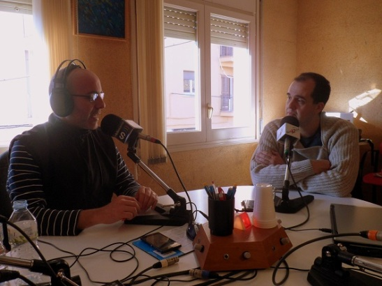 Amb en Guillem Alsina parlant del MWC 2014. Foto: Ràdio Sarrià
