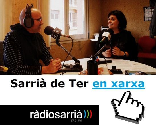 """Amb la Yolanda Hernández de """"Qpertin cultura interactiva"""" parlant d'apps educatives. Foto: Ràdio Sarrià"""