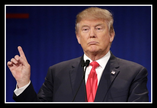 Republican presidential candidate, businessman Donald Trump speaks during the Fox Business Network Republican presidential debate at the North Charleston Coliseum, Thursday, Jan. 14, 2016, in North Charleston, S.C. (AP Photo/Chuck Burton)